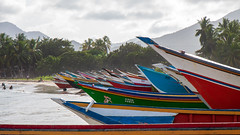 Colorful boats (Stig Nygaard) Tags: 2010 50d bolivarianrepublicofvenezuela canonefs1755mmf28isusm canoneos50d caribbean caribe creativecommons islademargarita islamargarita margarita margaritaisland newsparta nuevaesparta photobystignygaard puertofermíneltirano repúblicabolivarianadevenezuela venezuela ïslamargarita southamerica coast coastal beach sea playa seaside boats boat colorful catchycolors catchycolours colored colors colourful vibrant colours 16x9 169 eltirano puertofermín cuw27 ven