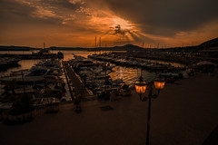 Harbour sunset....... (Dafydd Penguin) Tags: harbour harbor port dock quay moorings water sea waterside quayside harbourside sun sunset light boats yachts vessels pozzouli bay naples italy mediterranean leica m10 elmarit 21mm f28