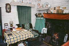 Cottage (V8 Badger) Tags: interior cottage victorian edwardian camera film 100 ektar kodak slr 35mm eos3 canon museum living country black