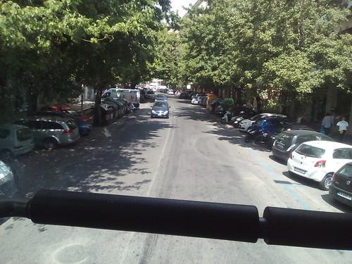 TRANSITO IN ROMA VIALE SOMALIA SUL BUS BIPIANO ROMA-MONTEROTONDO