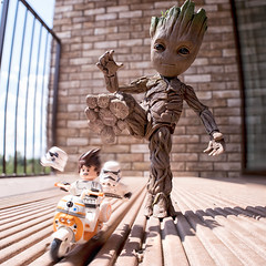 Groot Hates Troopers (Jezbags) Tags: baby groot stamping lego stormtroopers babygroot guardiansofthegalaxy marvel marvelstudios legos legostarwars toy toys trooper troopers stormtrooper bike bb8 macro macrophotography macrodreams macrolego canon canon80d 80d 100mm closeup upclose stamp