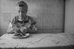 No One But You - 2 (annie.cure) Tags: atmosphere loneliness portrait eating alone blackandwhite monochrome homesick lunch queen missing mourning memories canon 750d noise