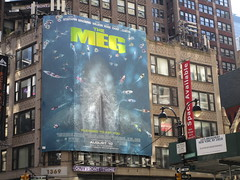 The Meg 2018 Film Billboard on Broadway NYC 5481 (Brechtbug) Tags: the meg 2018 billboard film based 1997 science fiction book a novel deep terror by steve alten giant shark movie that has bounced around studios for two decades megalodon monster broadway 36th st poster jaws like summer august holiday ocean creature spooky sea monsters nyc 07152018 new york city midtown west side street