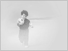 It was time to kick off the dreams of life.... (Introspective Mind) Tags: personal family oldphoto portrait child son barman barmans joy playtime laughter life sankarpur westbengal india