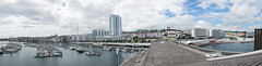 Ponta Delgada (Panorama) (grasso.gino) Tags: azoren acores sãomiguel pontadelgada nikon d5200 häuser houses panorama küstenlinie marina hafen harbour