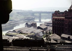 Newcastle view from Keep Q6 1965 img630 (Ernies Railway Archive) Tags: ner lner ecml newcastlecentralstation highlevelbridge