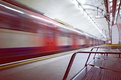 Chancery Lane, London (Amer Ramzan) Tags: london train underground transport longexposure speed centralline chancerylane