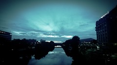 Landscapes & Cities (charlynixon) Tags: landscape photography saarbrücken water night citylights