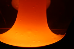 Crestworth Lava Lamp,9 (doojohn701) Tags: orange glass bottle bubbles wax lava lamp glow vintage retro 1960s crestworth mathmos uk poole