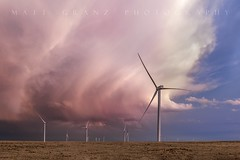 Cotton Candy Storm (Matt Granz Photography) Tags: storm clouds windmills newmexico weather sunset dusk twilight landscape windfarm stormchasing stormchaser nikon mattgranz