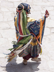 Chham dancer#8 (bag_lady) Tags: chhamdancers hemissummerfestival2011 hemismonastery festival tradition buddhism dancing costume ladakh india maskeddances tsechu
