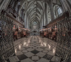 lost in my thoughts? (Wizard CG) Tags: bristol cathedral hdr uk architecture gothic college green olympus epl7 ngc world trekker micro four thirds 43 m43 mzuiko digital ed tourist attraction light windows church building indoor fisheye ceiling room people symmetry vault window arch aisle