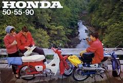 Honda singles ad,  1963 (Lawrence Peregrine-Trousers) Tags: honda 50 c100 ca110 ca100 c110 you meet nicest people ad advertising brochure poster 1960s 1963 1964 1962 55 90 c111 c114 c115
