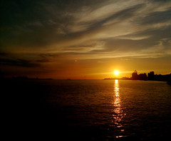 priceless (Yoman H) Tags: river sunset clouds ocean sea landscape tamshui taipei taiwan asia 淡水 日落 afterglow typhoon evening harbour port