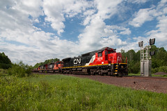 The Range in Transition (Jake Branson) Tags: train railroad locomotive ge emd sd40u c408 dash cn canadian national 2016 minnesota mn virginia taconite ore iron range mountain
