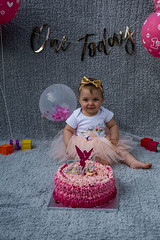 Baby Zayla-6 (Andy barclay) Tags: baby happy birthday 1st toddler girl cake smash one first smile messy portrait young pink