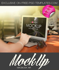Free MacBook Air Mock-up in PSD (Mockupfree.co) Tags: mockup free product mockups macbookair apple laptop hand man woman cafe work screen