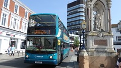 Arriva Bus 6406, Maidstone. Kent. (ManOfYorkshire) Tags: alexanderrandall 1862 monument arriva medway maidstone transbus alx400 medwaytowns kent route 3 maidstonehospital volvo b7tl gn04udv 6406