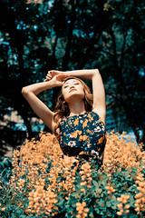 Girls Just Wanna Have Sun (Shane Ravel) Tags: photography portrait portraitphotography photoshop nikon canada toronto summer forest trees model flower flowers nature spring park