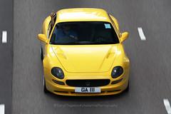 Maserati, 3200GT, Wan Chai, Hong Kong (Daryl Chapman Photography) Tags: ga111 maserati italian hongkong china sar wanchai canon 1d mkiv 70200l auto autos automobile automobiles car cars carspotting carphotography yellow yellowfever coupe
