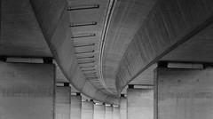 Under the bridge (geraldkoenigsohn) Tags: brohltal rheinlandpfalz germany canon55250mm canon60d minimalistic light architecture bridge autobahn structure schwarzweis blackandwhite