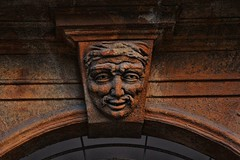 On the Arch (David K. Edwards) Tags: carving decorative arch archway face male palermo sicily italy stone mafia