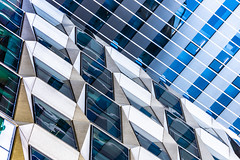 Tectonic (DobingDesign) Tags: architecture modernarchitecture angles lines diagonals glass corporaterealestate citylife cityoflondon storeys corporate offices patterns repeatingpattern repetitive modern directions shiny geometric building line stripes