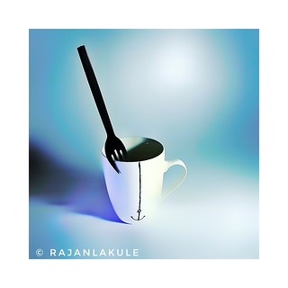 Cup and a fork
