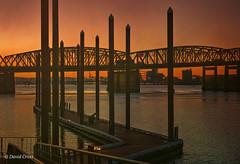 Reticulated Sunset (buffdawgus) Tags: oregon portland bridge canon5dmarkiii lightroom6 topazsw interstatebridge canonef24105mmf4lisusm vancouverwa columbiariver sunset