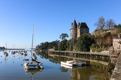 Pornic Harbour (syl20_44) Tags: architecture atlantique beach black blue boats buildings casino castle catamaran center church coast fishing france harbour loire marina mirror morning port reflection rural sea ship sky town trees urban view water west white winter pornic new yold