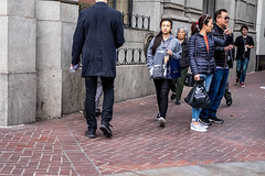 San Francisco 2018 (burnt dirt) Tags: sanfrancisco california vacation town city street road sidewalk crossing streetcar cablecar tree building store restaurant people person girl woman man couple group lovers friends family holdinghands candid documentary streetphotography turnaround portrait fujifilm xt1 color laugh smile young old asian latina white european europe korean chinese thai dress skirt denim shorts boots heels leather tights leggings yogapants shorthair longhair cellphone glasses sunglasses blonde brunette redhead tattoo pretty beautiful selfie fashion japanese totoro puffyjacket drink coffee