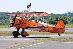 SE-BOG (1) (goweravig) Tags: sebog visiting stearman kaydet aircraft aerosuperbatics wingwalkers 1 wnas18 swansea wales uk boeing swanseaairport bilane