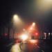 Fog on the street