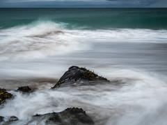 Feathery Water (katrin glaesmann) Tags: iceland unterwegsmiticelandtours photographyholidaywithicelandtours skarðsvíkbeach snæfellsnes peninsula sea beach longexposure ndfilter