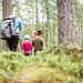 Family walking in the forest 2