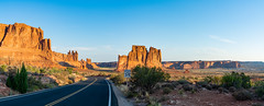 Utah (si_glogiewicz) Tags: utah arches national park sandstone america usa rock rocks stone road travel sunrise roadsign sky clouds