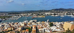 Ibiza Panoramica (gerard eder) Tags: world travel reise viajes europa europe españa spain spanien baleares ibiza city ciudades cityscape cityview paisajes panorama landscape landschaft urban urbanlife urbanview harbour hafen harbor outdoor