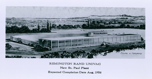 Depiction of new Remington Rand UNIVAC Plant 1 in St. Paul - 1956