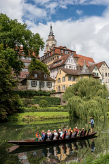 Tourism in Tubingen (huw_thomas06) Tags: germany tubingen boat punt punting rowing row tourist tourism river neckar trees riverbank buildings traditional church summer reflection house tree city old architecture europe town travel building urban historic wood painted shopping ancient sky rome medieval village france evening people dark façade cityscape european nikon d750 sigma 35 mm f14 art