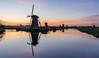 Kinderdijk sunset (Rob Schop) Tags: reflection 1650mmoss alblasserdam landscape sunset hoyafilters sonya6000 molens nd09 nederland outdoor a6000 pink kitlens windmill