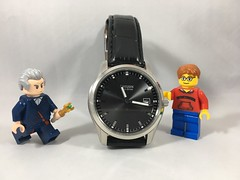 2018-170 - National Watch Day (Steve Schar) Tags: 2018 wisconsin sunprairie iphone iphone6s project365 lego minifigure steve doctorwho twelfthdoctor timelord watch wristwatch nationalwatchday wristband analog citizen ecodrive