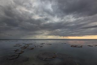 Micro Atolls and a Rainy Sunset