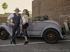 Bonnie and Clyde in the Sunset (Mistyvs) Tags: drinkandclick bonnie clyde classiccar downtownclub downtownfresno