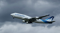 Caribbean Queen (ƒliçkrwåy) Tags: fhsun corsair jumbo boeing 747 744 747400 orly paris lfpo ory aircraft aviation airline airliner