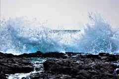 Wave splash (thomasgorman1) Tags: rocks lavarock shore nikon crashing splash splashing coast sea ocean island hawaii beach waves nature surf