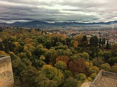 La vista desde la colina de Alhambra. The sight from the Alhambra hill. Granada (matteoleoni1) Tags: spain granada viaje travel erasmus explore alhambra history nature trees colours canon lens focus building best picture postcard cloud