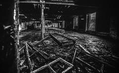 Rosebank Mill 2018 (John ME Photography) Tags: mill industry printworks rosebank ramsbottom uk lancashire urbex urban decay derelict window stairs nikon blackwhite supershot elitephotography