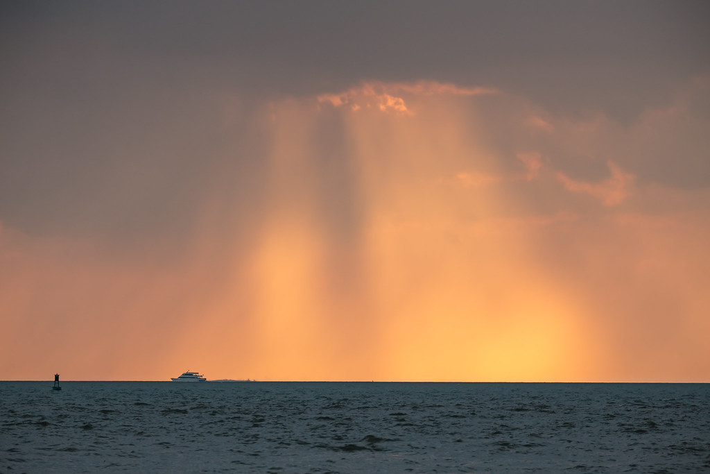 Photos of sunset on lake erie storms