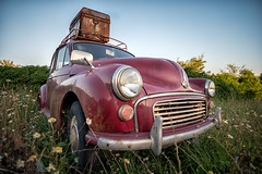 Summer Holidays (mickreynolds) Tags: july2018 nx500 westport morris minor vintagecar abandoned