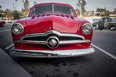 1949 Ford (Photos By Clark) Tags: lamesa california canon5div location canon1740 northamerica cities unitedstates locale places where us lightroom 1950 ford restored red chrome carshow showcar flatheadv8 v8 flathead thesandiegoist